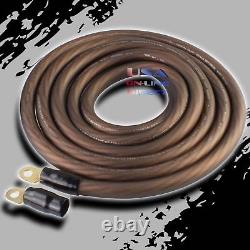 0 Gauge 25 feet BLACK Power 100% OFC Wire Strands Copper Marine Cable 1/0 AWG US