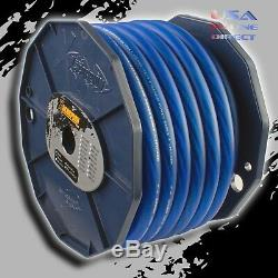 0 Gauge 50 feet BLUE Power Ground OFC Wire Strand Copper Marine Cable 1/0 AWG