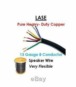 100 Meters / 328 Feet LASE 13 AWG Gauge 8 Conductor Heavy Duty Speaker Wire