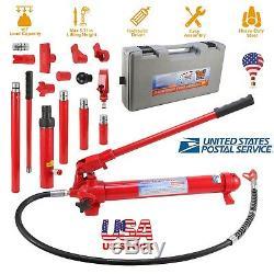10 Ton Capacity Porta Power Hydraulic Bottle Jack Ram Pump Car Auto Repair Tool