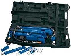10 Ton Hydraulic Heavy Duty Power Auto Frame Car Van Jack Body Porta Repair Kit