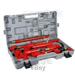 10 Ton Porta Power Hydraulic Jack Body Frame Repair Kit Auto Shop Heavy Duty