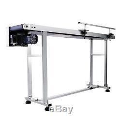110V Electric PVC Belt Conveyor 59x 7.8 Heavy Duty Powered Rubber Equipment