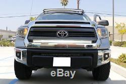 126W 45 LED Light Bar withBehind Front Grille Mount Bracket For 14+ Toyota Tundra