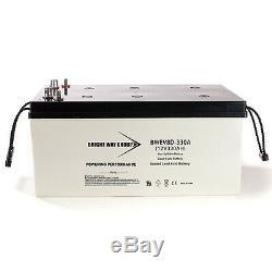 12V 330Ah 8D Sealed AGM Heavy Duty Battery for Solar Power Storage, BackUp Power