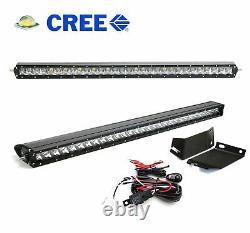 150W 30 Hood Mount LED Light Bar withBracket Wire Switch For Jeep Wrangler JK JKU
