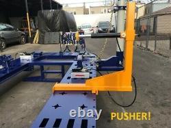 18 Feet Long Auto Body Frame Machine 4 Towers Free Porta Power Clamps Tools Cart