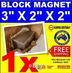 1x Powerful N52 3 X 2 X 2 Rare Earth Large Magnet Neodymium Heavy Duty