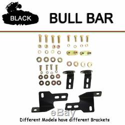 2010-2019 Dodge Ram 2500 3500 3 Round Black Bull Bar Push Bumper Grill Guard