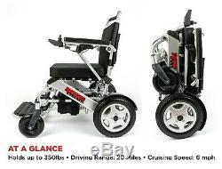 2021 Portable Electric Wheelchair Lightweight Folding Power Wheelchair FDA Safe