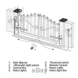24V Auto Electric Power Swing Gate Opener Automatic Motor Remote Kit Heavy Duty