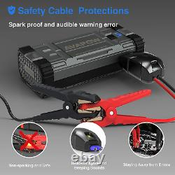 3000 AMPS POWER Heavy Duty Truck Battery Booster Pack Jump Starter Box Portable