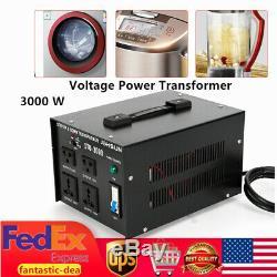 3000 Watt Voltage Converter Power Transformer Step Up/Down 110V- 220V Heavy Duty