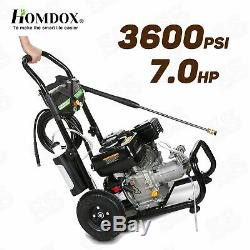 3600PSI 2.8GPM Gas Pressure Washer 212CC High Powered Cleaner Machine Heavy DUTY