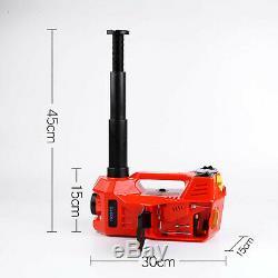 3 in 1 12V DC 3T Electric Hydraulic Floor Jack Lift Heavy Duty Power Tool Pump