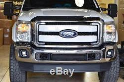 40W CREE LED Cube Fog Light Kit withBezel Cover, Wiring For 2011-16 F250 F350 F450