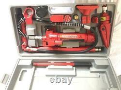 4 Ton Porta Power Hydraulic Jack Autobody Frame Repair Heavy Duty Tool Kits