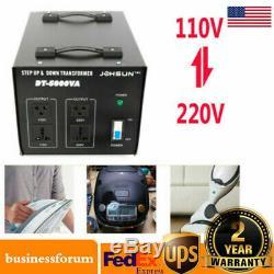 5000W Power Voltage Converter Transformer Heavy Duty Step Up/Down 110-220V USA