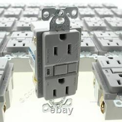 50 New Cooper Gray GFCI Receptacle Outlets 5-15R 15A Bulk VGF15GY NO SCREWS