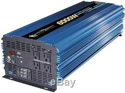 6000-Watt DC AC Power Inverter 12V Battery Converter Heavy Duty Outlet Charger