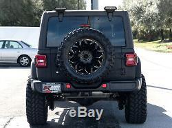 Above Rear Window Mount Dual 6-Inch LED LightBar Kit For 07+ Jeep Wrangler JK JL