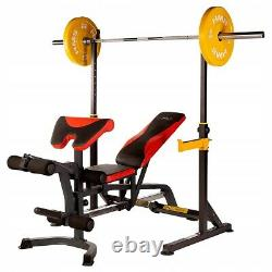 Adjustable Barbell Stands Squat Rack Dips Handles 180 KG Power Stand Heavy Duty