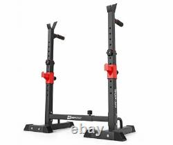 Adjustable Barbell Stands Squat Rack Dips Handles 250 KG Power Stand Heavy Duty