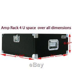 Amp Rack Case 4 U Space heavy duty for Power Amplifiers Processors Music gear