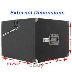 Amp Rack Case 8U Space heavy duty for Power Amplifiers Processors Music gear