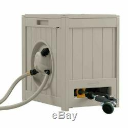 Automatic Retractable Garden Hose Reel 125 ft. Heavy Duty Water Powered Resin