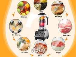 BPA Free 3HP 2200W Heavy Duty Commercial Grade Blender Mixer Juicer High Power