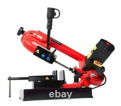 Band Saw Metal-Cutting Power Tool Compact Cast Iron Heavy Duty Steel 4Inch 5-Amp