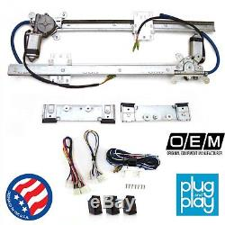 Chevy Bel Air 1949-1957 Power Window Regulator Kit with 3 Switches sbc hot rod v8