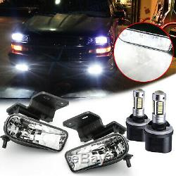 Clear Lens White LED Fog Light withBracket For Chevy 1500 2500 3500 Suburban Tahoe