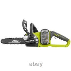 Cordless Chainsaw Electric 12 in With Battery and Charger Ryobi 18v Pruner Kit