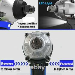 Cordless Electric Impact Wrench Gun 1/2'' Driver 420Nm/Li-ion Battery High Power