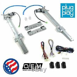 Dodge Challenger 1970 1974 Power Window Regulator Kit with 3 LED Switches mopar