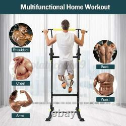 Doufit Heavy Duty Tower Power Pull Up Bar Station Strength Training Gym Workout