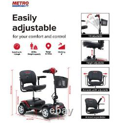 Drive Mobility Scout Compact Travel Power Scooter 4 Wheel Extended Battery INS