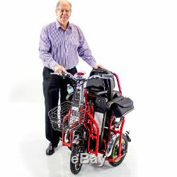 EWheels Bariatric Electric Powered Mobility Scooter Folding Two Seater EW-02 NEW