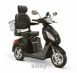 EWheels EW36 Black 3-Wheel Electric Powered Mobility Scooter FREE ALARM & NO TAX
