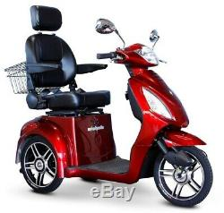 EWheels EW36 Red 3-Wheel Electric Power Mobility Scooter FREE ALARM 18 MPH NOTAX