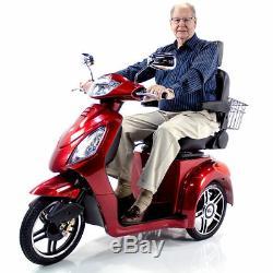 EWheels EW36 White 3-Wheel Electric Power Mobility Scooter FREE ALARM & NO TAX