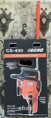 Echo Cs-490 Professional 20 Bar 50.2 CC New 2-stroke Gas Power Chainsaw