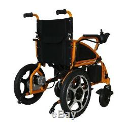 Electric Folding Wheelchair Heavy Duty Lightweight Mobility Aid Power Chair