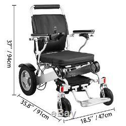 Electric Motorized Wheelchair Folding Lightweight Heavy Duty Electric Power