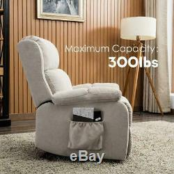 Electric Power Lift Chair Recliner Overstuffed Padded Sofa Heavy-duty Footrest