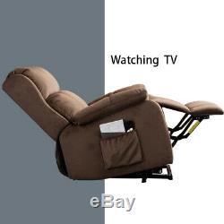 Electric Power Lift Recliner Chair Heavy Duty Safety with RC for Elderly, Brown