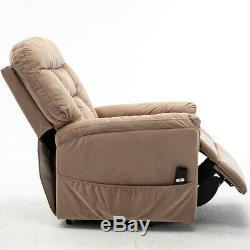Electric Power Lift Recliner Chair Sofa Heavy Duty Armchair Elderly Seat Fabric