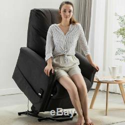Electric Power Lift Recliner Chair Sofa Heavy Duty Motor Overstuffed Seat Back